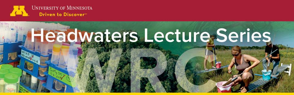 Images in the Headwaters Lecture Series banner