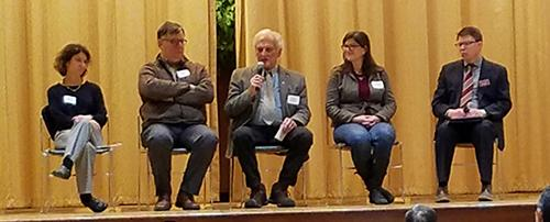 Panelists talking about water research and education
